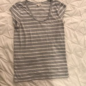 Cap sleeve, grey and white striped Gap t-shirt